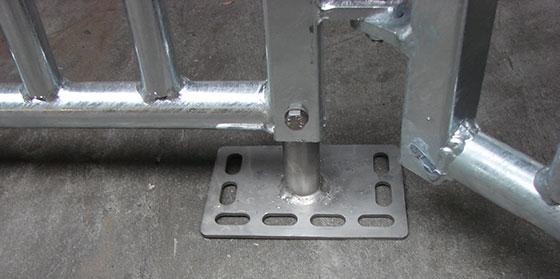 Compufeeder stainless steel floor supports
